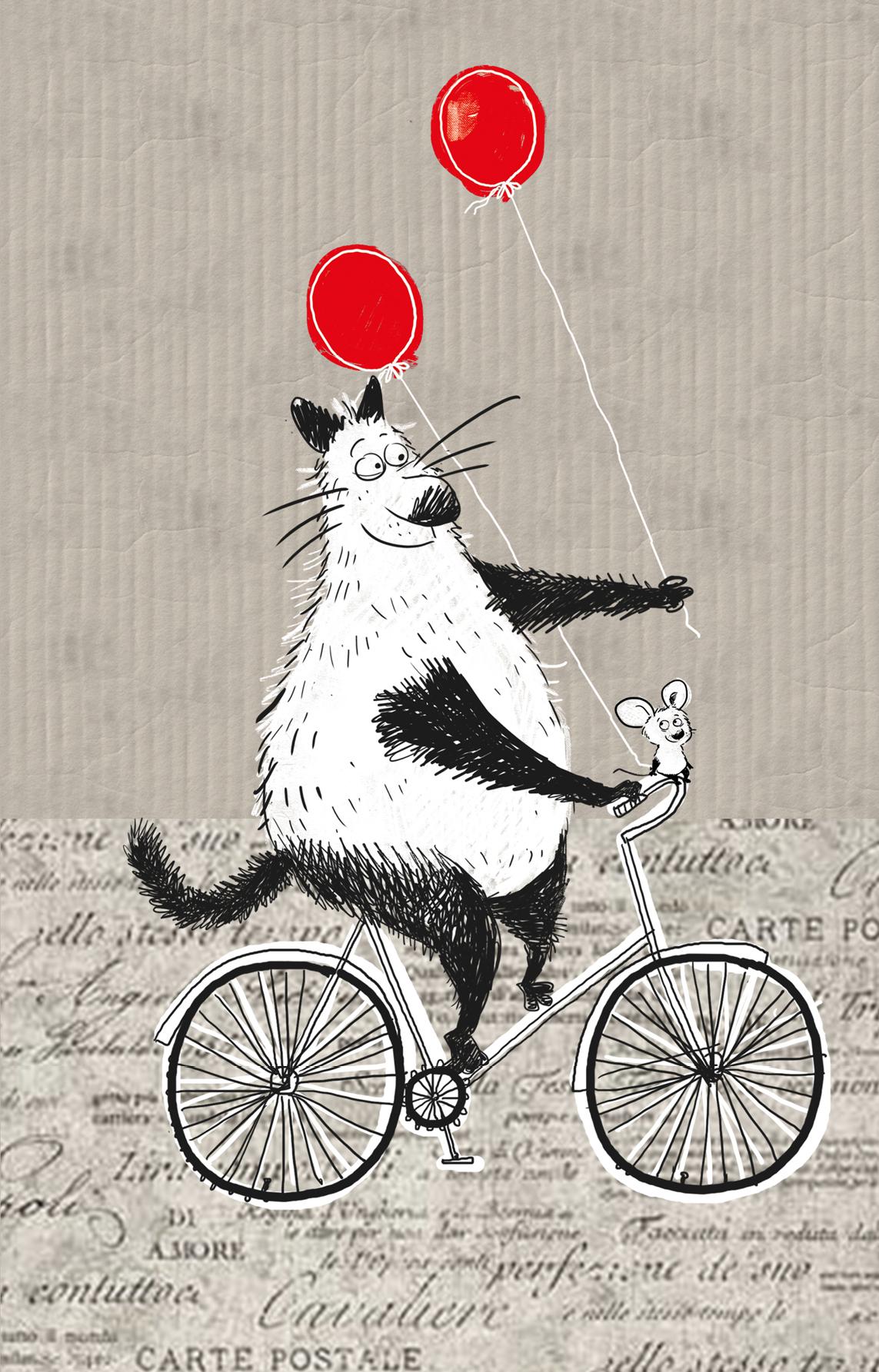 Блокнот, поднимающий настроение (на велосипеде)