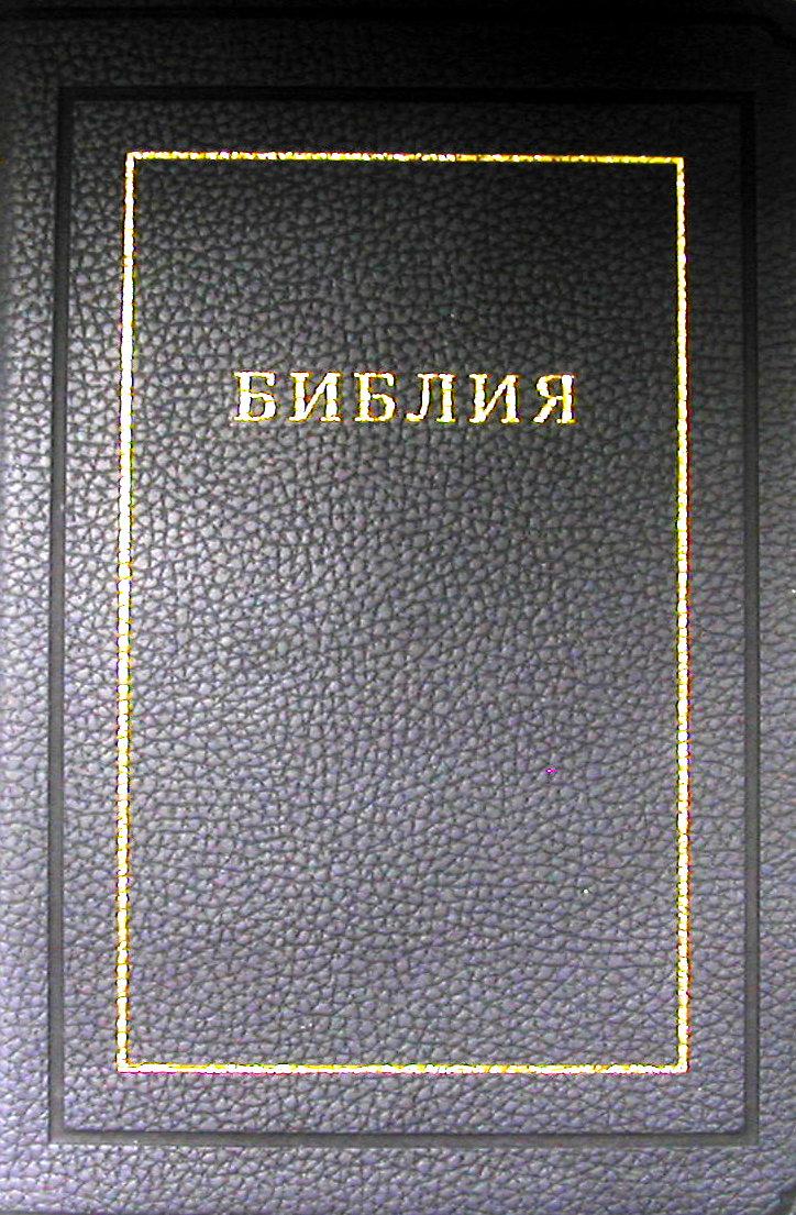 Библия (1171)(канонич) 075TI кож.с золот.син.